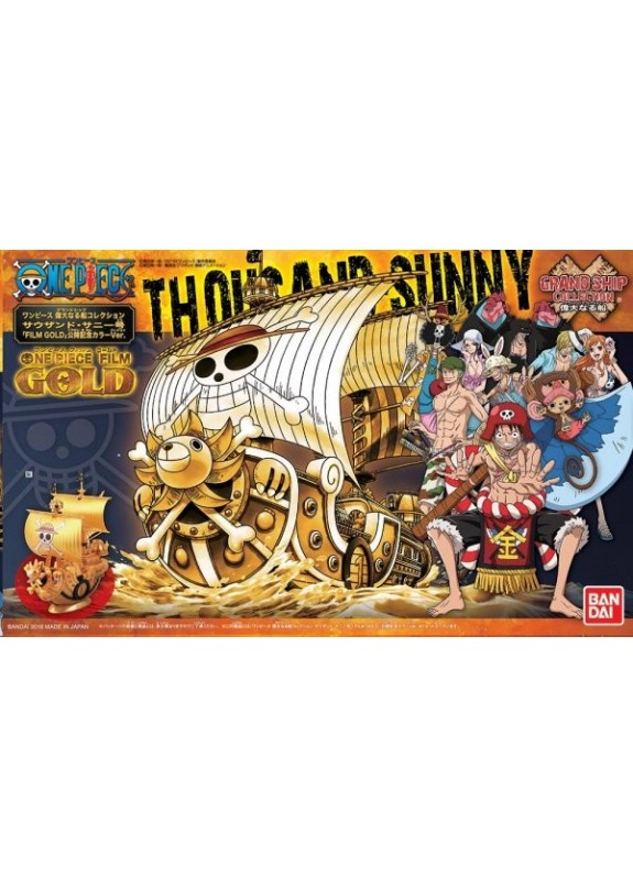 ONE PIECE GRAND SHIP COLLECTION THOUSAND SUNNY GOLD