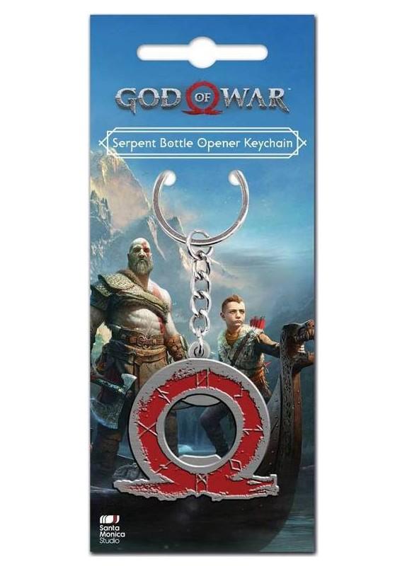 GOD OF WAR SERPENT LOGO BOTTLE OPENER KEYCHAIN