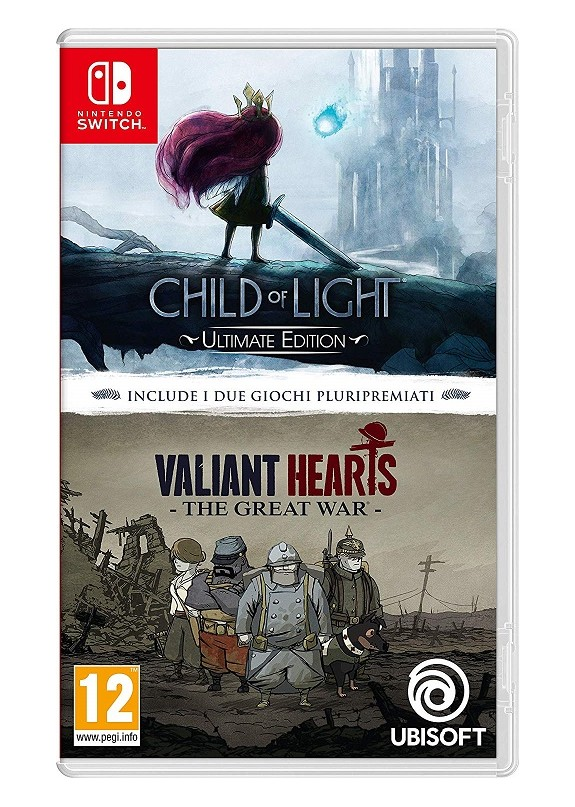 CHILD OF LIGHT ULTIMATE EDITION & VALIANT HEARTS THE GREAT WAR NINTENDO SWITCH