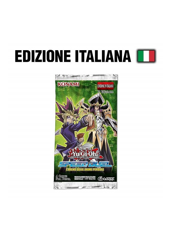 YU-GI-OH! SPEED DUEL L'ARENA DELLE ANIME PERDUTE  BUSTINA 4 CARTE