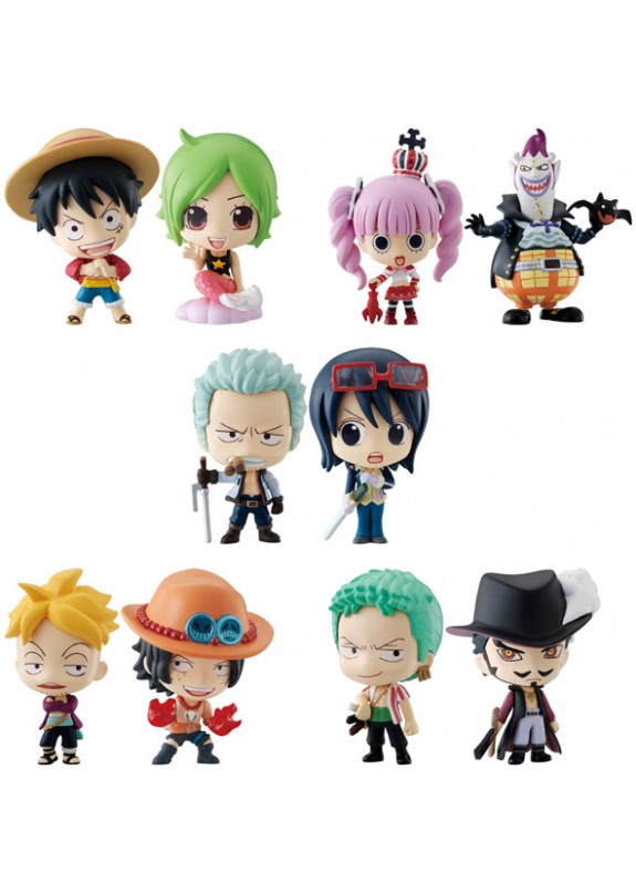 ONE PIECE OCEAN BLUE MINIFIGURES GASHAPON (10)