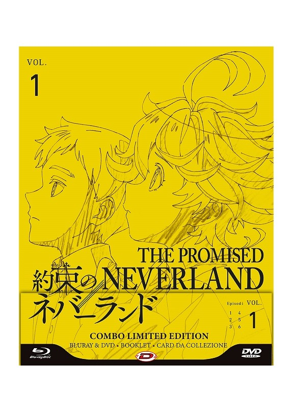 The Promised Neverland  01 (Eps 01-06) (Ltd Edition) (Blu-Ray+Dvd)