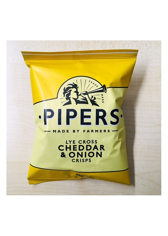 PIPERS CRISPS CHEDDAR & ONION 40g