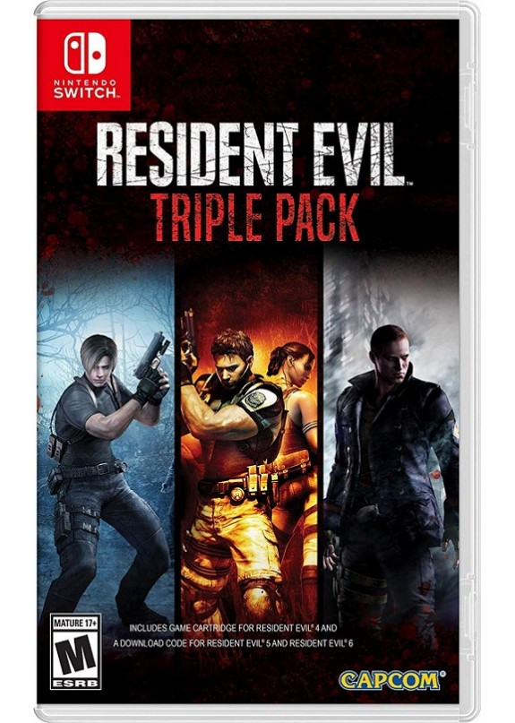 RESIDENT EVIL TRIPLE PACK (4-5-6)  NINTENDO SWITCH