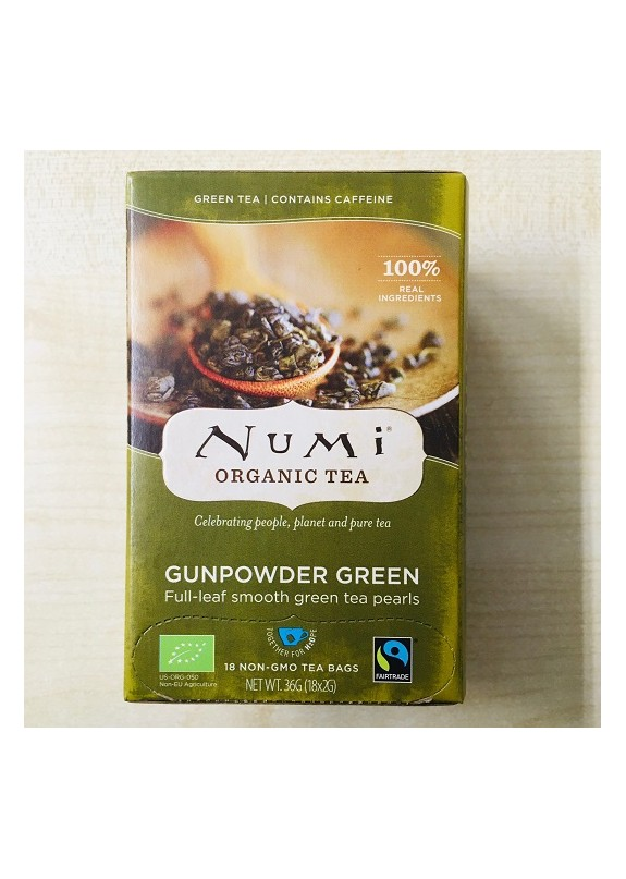 NUMI GUNPOWDER GREEN BIO TEA 36g (18 bustine x2g)