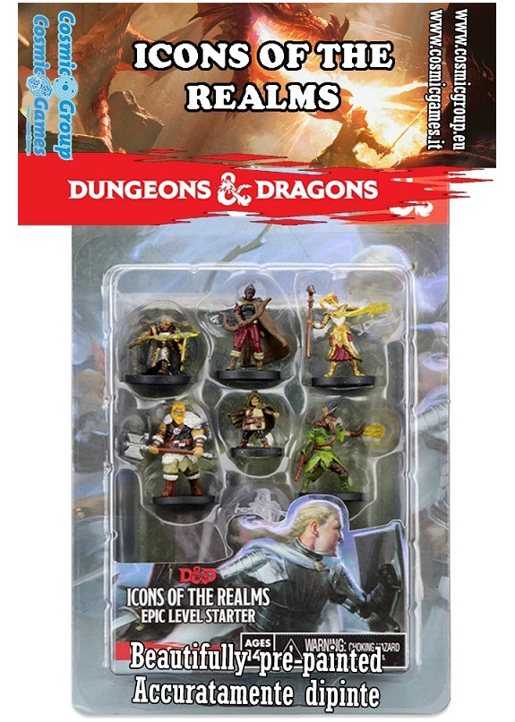 DUNGEONS & DRAGONS ICONS OF THE REALM EPIC LEVEL STARTER SET