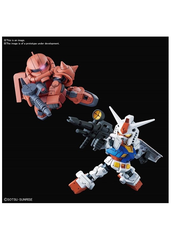 SD CROSS SILHOUETTE RX-78-2 & ZAKU 2 SET