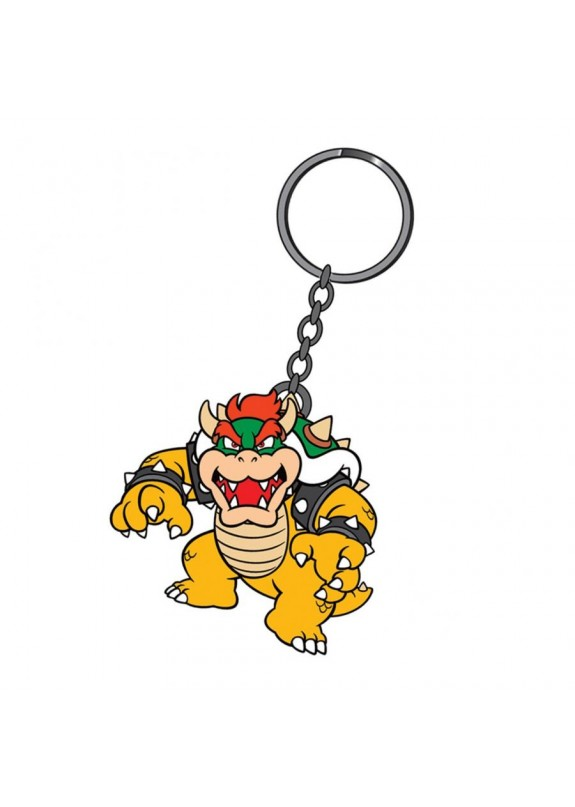 SUPER MARIO RUBBER KEYCHAIN BOWSER