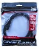 CAVO HDMI 1.4   150cm  4K 3D Full HD  Two dots