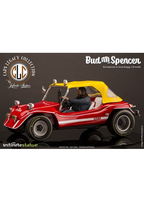 BUD SPENCER ON DUNE BUGGY 1:18 MODEL