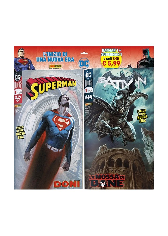 DC COMICS PACK - BATMAN+SUPERMAN N.1
