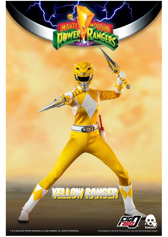 MIGHTY MORPHIN POWER RANGERS YELLOW RANGER