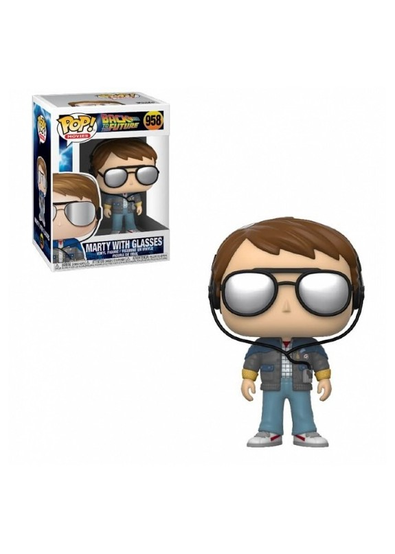 BACK TO THE FUTURE MARTY WITH GLASSES FUNKO POP 958