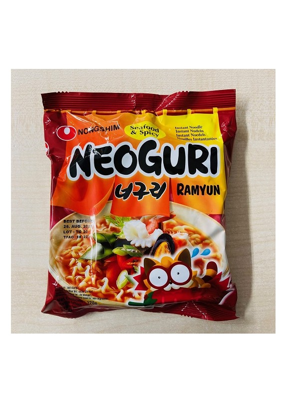 NONGSHIM NEOGURI SEAFOOD & SPICY RAMYUN NOODLE PACK 120gr