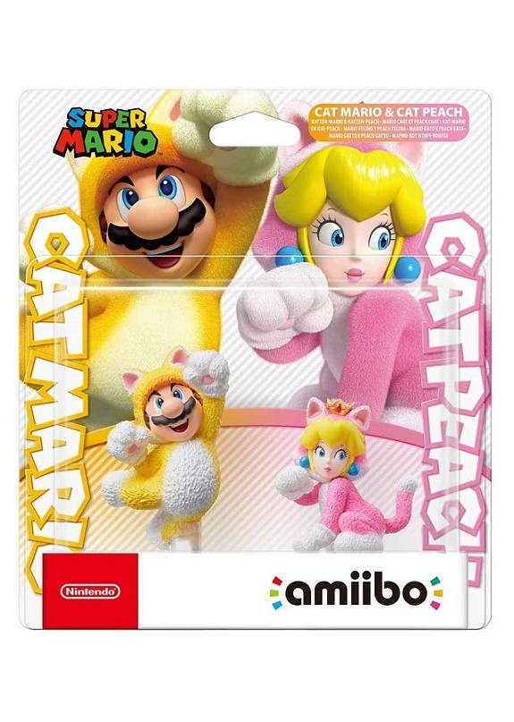 AMIIBO SUPER SMASH BROS ULTIMATE MARIO GATTO E PEACH GATTO (DOUBLE PACK)
