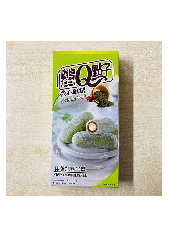 GREEN TEA RED BEAN MOCHI ROLL 150g