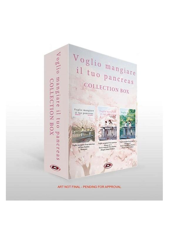 VOGLIO MANGIARE IL TUO PANCREAS collection box  ( manga vol.1-2 - ROMANZO )