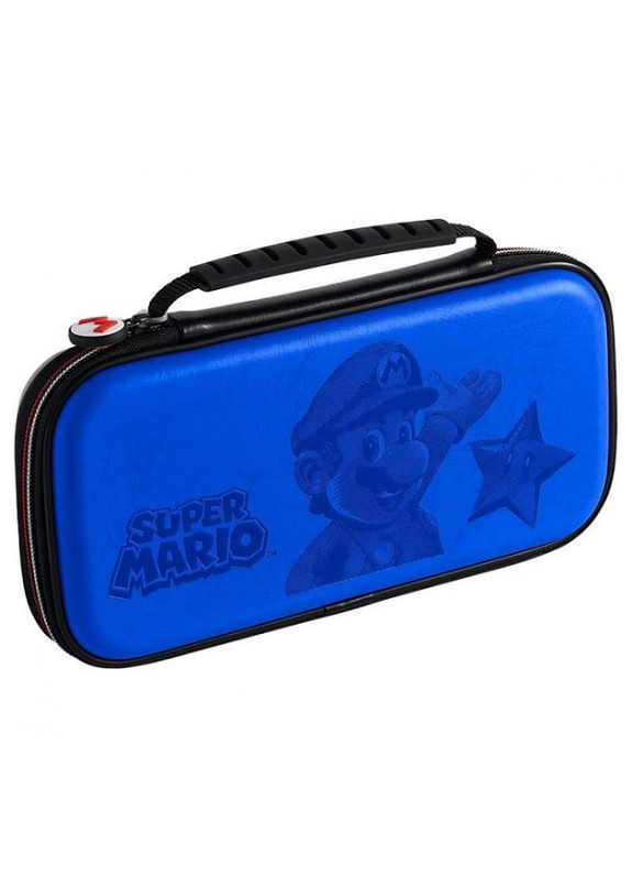 NINTENDO SWITCH GAME TRAVELER DELUXE TRAVEL CASE BLUE SUPER MARIO
