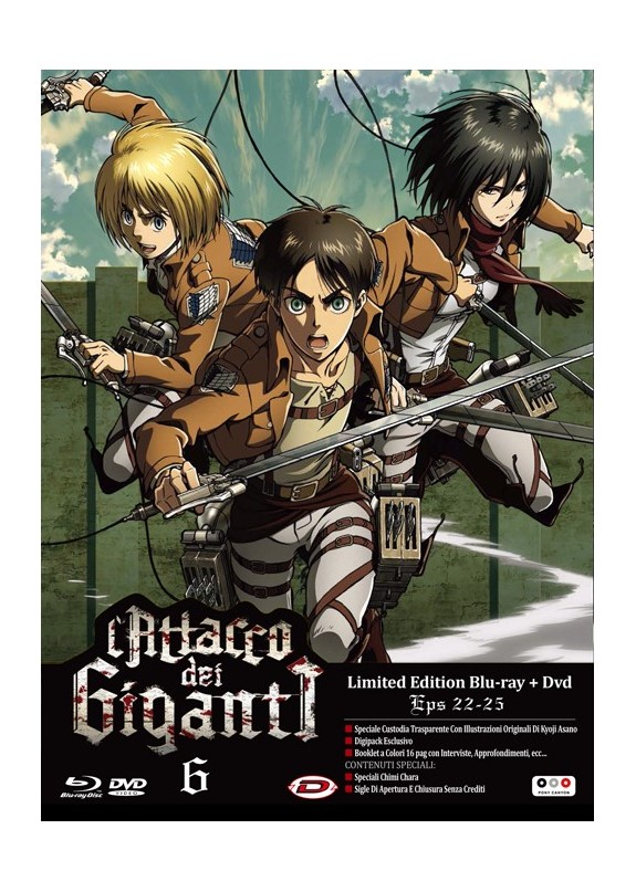 L ATTACCO DEI GIGANTI 06 EP. 22-25 BLU RAY+DVD