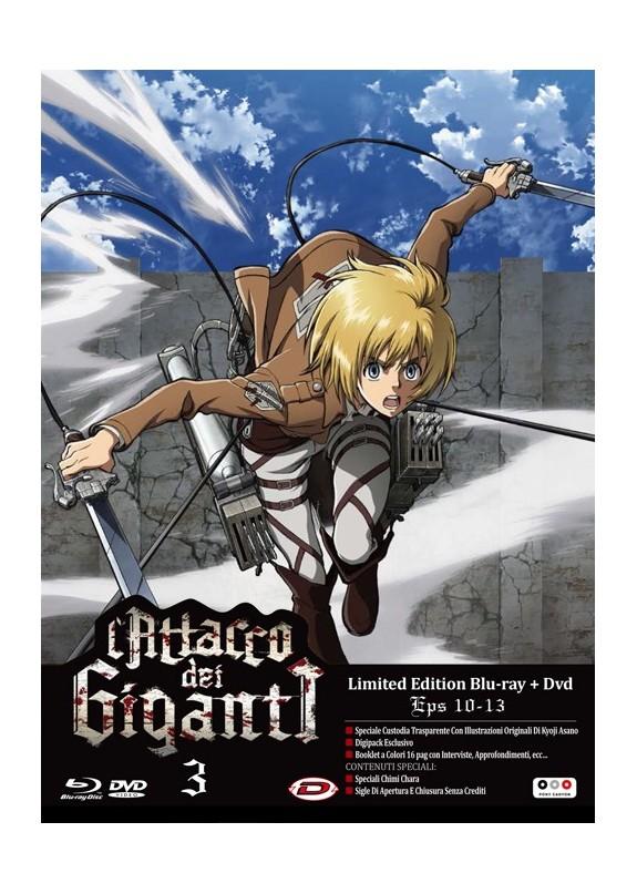 L'ATTACCO DEI GIGANTI DVD+ BLU-RAY N.3