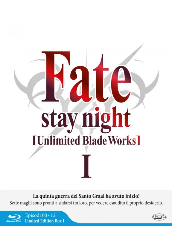 Fate/Stay Night Unlimited Blade Works S1 Eps.0-12 (3 Blu-Ray) (Limited Edition Box)