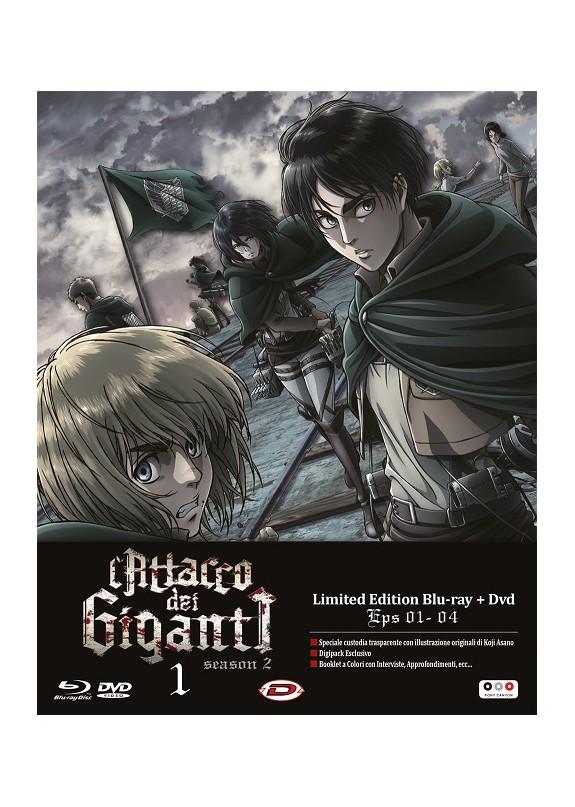 L'ATTACCO DEI GIGANTI season 2 ep.26-29 (Limited Edition) DVD+ BLU-RAY N.1