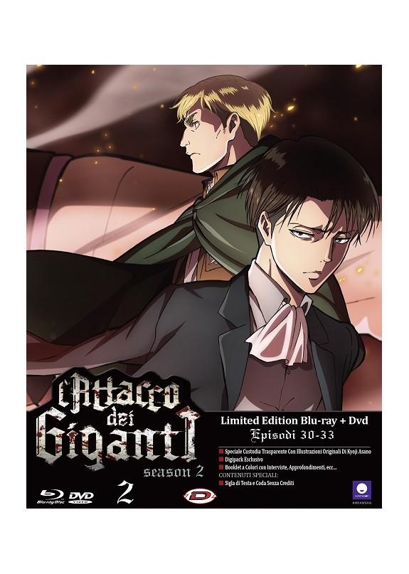 L'ATTACCO DEI GIGANTI season 2 ep.30-33 (Limited Edition) DVD+ BLU-RAY N.2