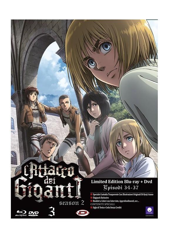 L'Attacco Dei Giganti - Stagione 02 #03 (Eps 09-12) (Ldt Ed) (Blu-Ray+Dvd)